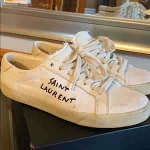 Saint Laurent Distressed Sneakers